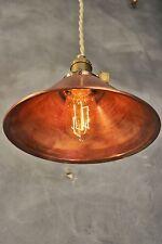 Industrial Lighting - Vintage Copper Pendant Lamp - Steampunk Lamp Hanging