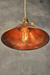 Industrial Lighting - Vintage Copper Pendant Lamp - Steampunk Lamp Hanging