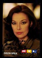 Evelyn Opela RTL Autogrammkarte Original Signiert # BC 94415