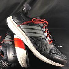 b9256ebfa  AF6518  Mens Adidas Ultra Boost ST M Running Sneaker - Black Iron Red Kanye