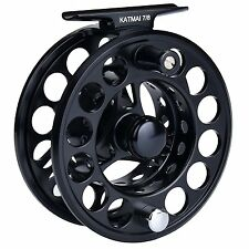 KastKing Katmai Fly Fishing Reel Trout Salmon Fishing Fly Reel (Size 7/8)- Black