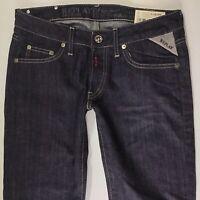 BNWT Ladies Replay WV524 slim bootcut DARK Blue Jeans W26 L32 (726e)