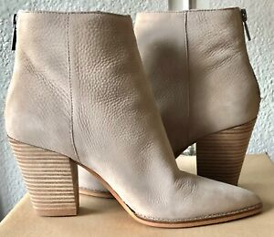 LUCKY BRAND Adalan Leather Booties, Chinchilla color SZ 9M