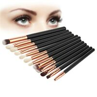 12 Stück Lidschatten Pinsel Set Make-up Professional Kosmetik Pinsel