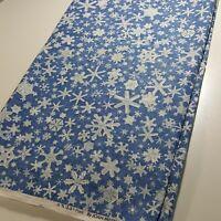 2 1/3 Yards Vintage Snowflake 100% Cotton Quilting Fabric - Stash Reduction!