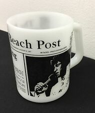 Vintage Federal Milk Glass Elvis Mug ELVIS IS DEAD Elvis Presley 1977
