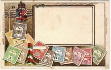 HUNGARY  - Old Postcard with Embossed Stamps