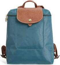 Longchamp Le Pliage Nylon Foldable Backpack **Peacock Blue** ~NIP~