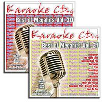 2 Karaoke CDG CD+G Set - Die aktuellen Chart Megahits Vol.30 + Vol.31 - Neuware
