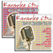2 KARAOKE CDG CD + G Set-gli attuali Chart MegaHits vol.30 + vol.31 - Merce Nuova