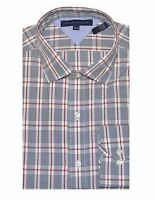 Tommy Hilfiger Men Special Edition Plaid Shirt (16.5(34-35), White/Black/Crimson