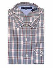 Tommy Hilfiger hombre edición especial Camisa de cuadros (16.5 (34-35 ),BLANCO /