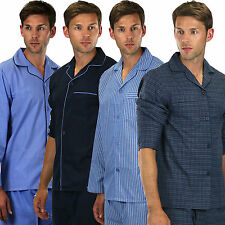 Mens Plain Poly Cotton & satin Pyjama  Sizes PYJAMAS S TO xxxxxl   cb