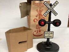Vintage Marx No 423 Twin Light Crossing Flasher — Original Box, tested