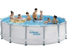 Summer Waves 14ft Elite Frame Pool with Filter Pump, Cover, and Ladder Ships Now