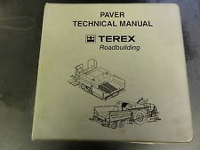 Terex Cedarapids Paver Technical Manual