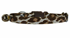 marrón y Crema Estampado Leopardo Collar de seguridad Gatito 12.7 cm-17.8 cm