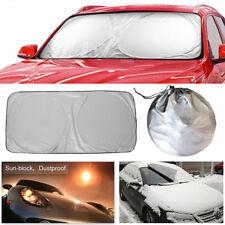Jumbo Foldable Auto Car SUV Sun Shade Visor Block Front  Windshield Snow Cover