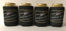 Miller Genuine Draft MGD Beer Can Bottle Cooler Koozie Coolie~ Set of 4 NEW F/S