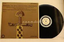 """Wagner The Ring Orchestral Highlights Urania -  Urania LP 12"""" (VG)"""