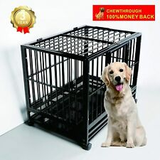 "36"" Dog Cage Heavy Duty for Medium Dogs Metal Pet Crates Kennel Playpen w/Wheels"