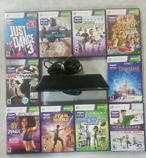Microsoft Xbox 360 Kinect Motion Sensor Bar Black & a game bundle