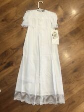 VINTAGE Jessica McClintock White Lace Christening Gown Size 6 Months Baptism New