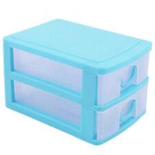 Plástico Cajón de Almacenamiento 2,3 nivel Organizador Dormitorio Oficina Cajone