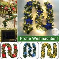 270cm Weihnachtsgirlande LED Lichterkette Tannengirlande Weihnachten Dekoration