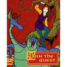 QUEST FOR CAMELOT INVITATIONS (8) ~ Birthday Party Supplies Stationery Vintage