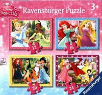 Ravensburger Disney Princess-4 in Box (12, 16, 20, 24 Piece) Jigsaw Puzzles For