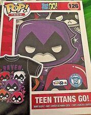 Pop! Tees Teen Titans Go! #126 Raven Unisex XS New