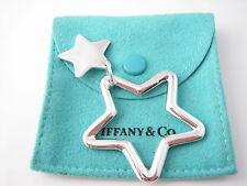 Tiffany & Co Silver RARE Double Star Key Ring Key Chain Keychain!