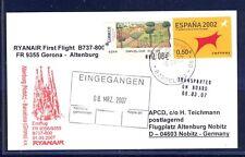 44601) Irland Ryanair FF Gerona - Altenburg 6.3.07, card