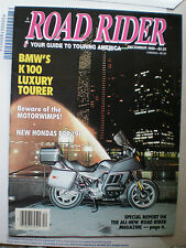 Road Rider Magazine- December 1990- BMW K100LT