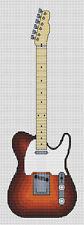 Telecaster Guitar Cross Stitch Kit