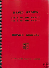 David Brown 850/950/880/990 Implematic Tractor Manual