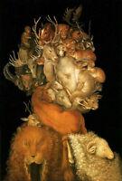 Stunning Abstract Oil painting Giuseppe Arcimboldo - Earth Wonderful portrait