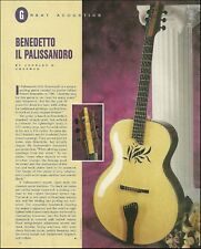 The 1996 Robert Benedetto IL Palissandro guitar full page history article