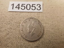 1947 India Quarter Rupee Tiger Rev - Nice Collectible Raw Album Coin - # 145053