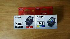 GENUINE CANON 1x PG 640XL BLACK 1x CL 641 Color MG2160/MG3160/MG4160/MX376/MX436