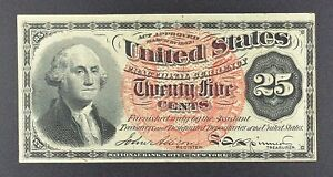 "Fr. 1302 25-cent Fourth Issue Fractional Note, ""Washington""."