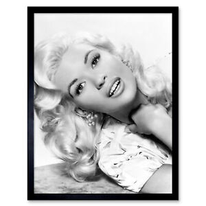 Actress Jayne Mansfield Kiss Them For Me Promo Photo Framed Wall Art Poster