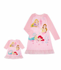"""Disney Princess Girls Pink Nightgown With 1 Matching 18"""" Doll Gown, Size 8"""