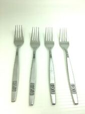 """Madeira Mid-Century Modern Stainless Japan 4 Dinner Forks - Discontinued 7.5"""""""