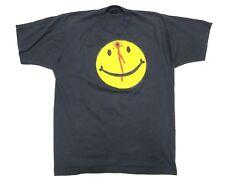 Retro VINTAGE Headshot Smiley Graphic Black T-Shirt Adult Men's Sz XL ICE Cub