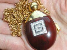 Givenchy Gold tone perfume bottle necklace