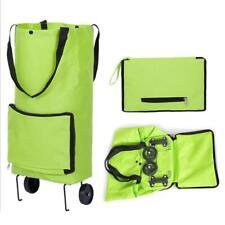 Foldable Trolley Bag Folding Shopping Bag Cart With Wheels Portable Luggage