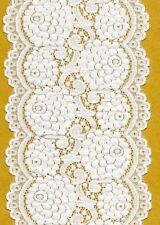 White Stretch Lace Trimming 5mts 13.6cm Wide