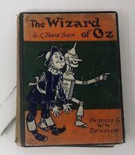 The Wizard of Oz Vintage Frankl L Baum12  Color Illustrations 1903 Denslow